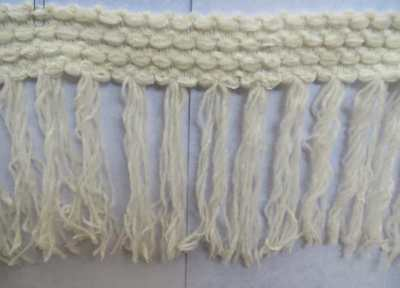 """10mt Ivory cream chenille fringe trimming 13cm (5"""") width quick delivery from UK"""