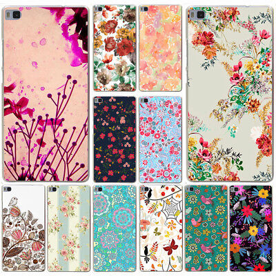 for huawei P8 P9 P10 Lite vintage floral love is flower Hard Phone Cover Case
