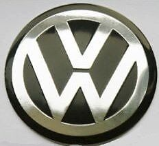 1 x Large Volkswagen Metallic CAR Stickers Chrome  vinyl 60mm x 60mm  VW