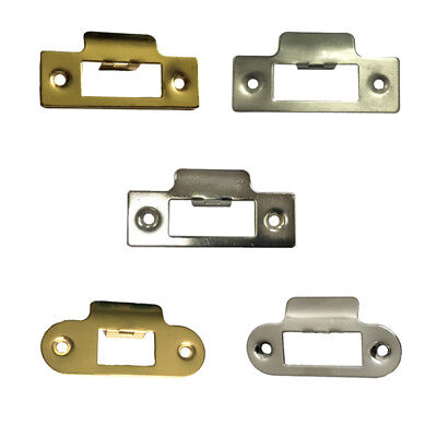 Strike Plate Short Satin Brass Polished Chrome for Tubular Mortice Latches/Locks
