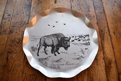 "Vintage Stylemaster American Bison ""Tray-Plaque"" - Reynolds MFG Michigan"