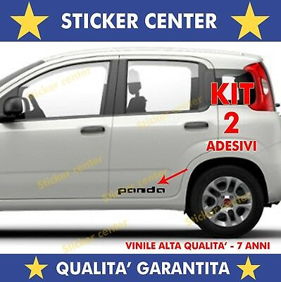 Kit 2 Adesivi Sportello Porta Door Fiancata Fiat Panda Young Cross Sticker