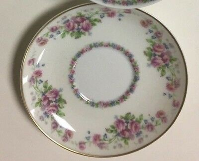 Antique Theodore Haviland Limoges Opera Saucer for Tea Cup Roses EUC