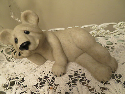 Lg Second Nature Design Quarry Critters Polar Bear Baboo Size 11 1/2 X 6