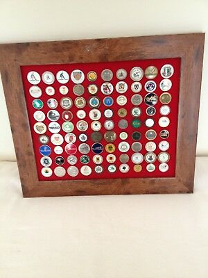 collection of golf ball markers, frame size 375x325