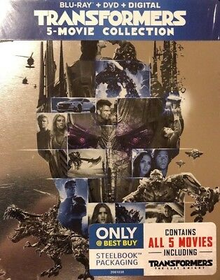 Transformers 5-Movie Collection - Limited Edition Steelbook [Blu-ray + DVD] New!