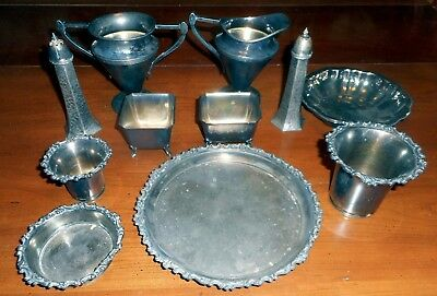 Vintage/Antique Victor and Rogers Silver Plate Lot  - 11 pieces  AS-IS