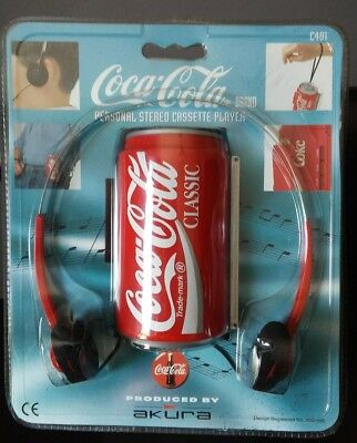 Vintage Coca Cola Personal Stereo Cassette Player. Can with Headphones. New