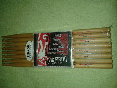 4 Paar Vic Firth Sticks American Classic Rock inkl. CD