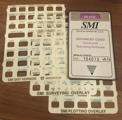 SMI 48 ACE Advanced COGO surveying software card for HP 48gx