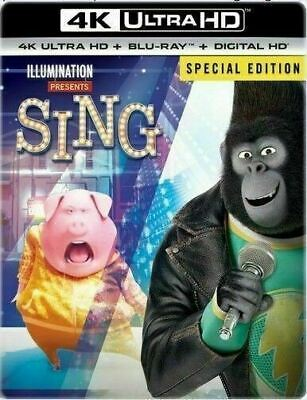 Sing 4K - Limited Edition Steelbook [4K Ultra HD + Blu-ray] New and Sealed!!