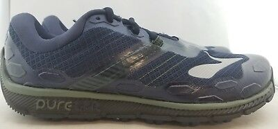 best service 0aed8 d2419 BROOKS PUREGRIT 5 Navy/Olive Running Shoes Men's US 9 (O3,11)