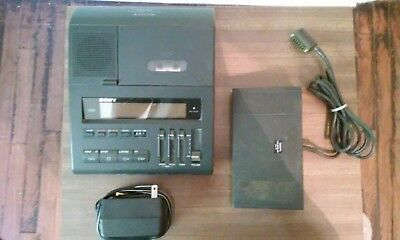 Sony Bm-880 Dictator Transcriber Machine; Fs-75 Foot Control And Power Cord