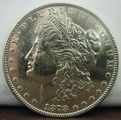 1878-P 7 over 8 Tail Feather  $1 Morgan Silver Dollar  #777