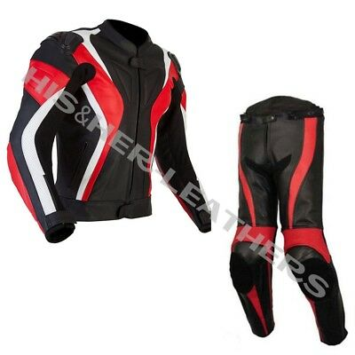 CURVE,RED/BLACK-Motorbike/Motorcycle Riding Leather Racing Suit-MotoGp-ALL SIZE