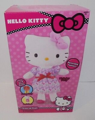 NOS 2013 JAKKS Pacifics Sanrio HELLO KITTY Dress-Up Plush Doll