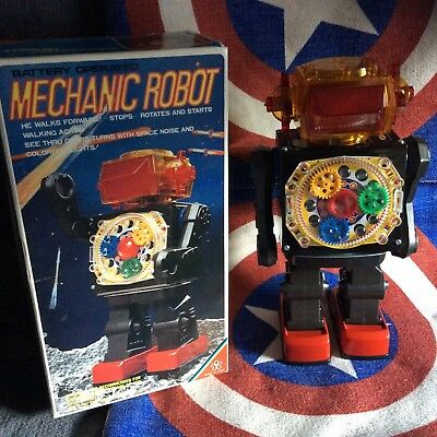 Robot original tin  rare Yonezawa made   Japan 1960  near mint  condition+  Box
