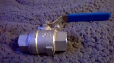 """Stainless Steel 316 Ball Valve - Bsp - 3/4""""- Rated Pn63 - Astm A351 Cf8M"""