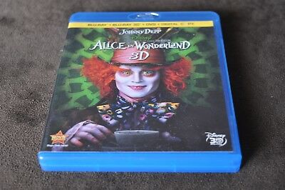 Alice in Wonderland (Blu-ray/DVD, 2010, 4-Disc Set, Includes Digital Copy 3D)
