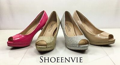 46e933b9bcf6 New Women s City Classified Walter Peep Toe Low heel Comfort Platform heel  pump