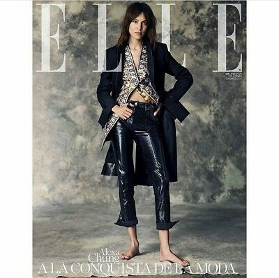 Alexa Chung Subscriber Cover Elle Spain April 2018 Magazine Top Model