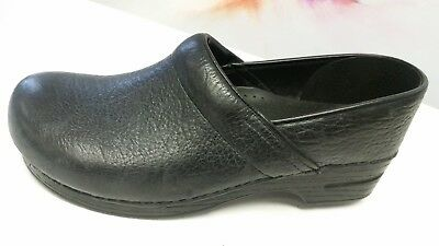 Dansko Pro Clogs Slip On Comfort Shoes Black Leather Mens EUR Sz 45 /US 11.5-12