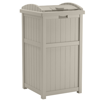 White Outdoor Garden Patio Storage Box Large Container - Stylish Trash Hideaway  sc 1 st  PicClick & LARGE OUTDOOR STORAGE Garden Pool Patio Deck Box Bench Bin Container ...