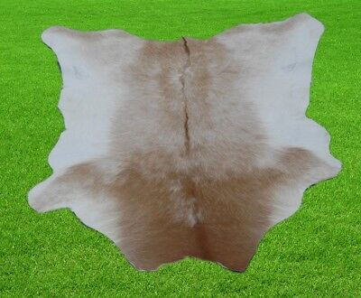 """New Calfhide Rugs Area Cow Skin Leather 5.83 sq.feet (30""""x28"""") Calf hide A-1224"""