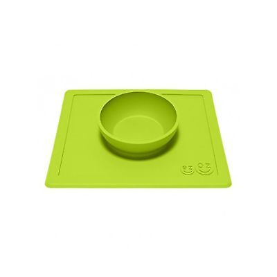 ezpz Happy Bowl - One-piece silicone placemat + bowl (Lime) Lime