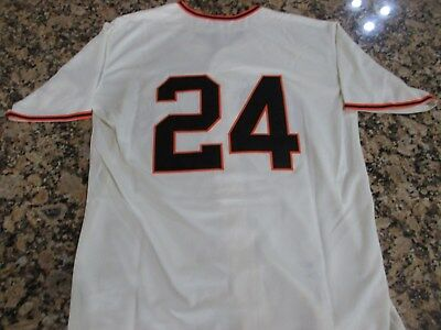 hot sales df667 6b1a4 NEW YORK GIANTS WILLIE MAYS Throwback REPLICA Mens Large ...