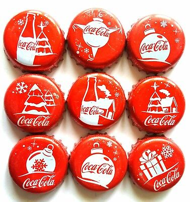 COMPLETE x9 SET COCA COLA COKE CHRISTMAS SPECIAL & LIMITED EDITION MEXICO 2015