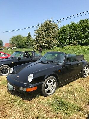 Porsche 964 C4 cabriolet, manual gearbox, black, matching numbers