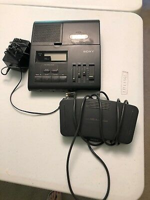 Sony Microcassette transcriber with foot pedal Model BM 840 with reference books