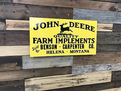 Vintage Antique Style John Deere Sign Farm Implements