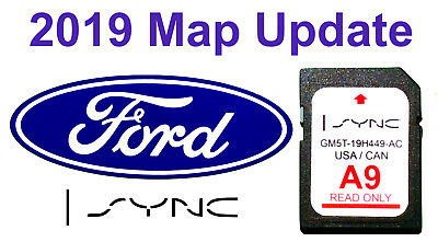 Latest 2019 Map Update FORD A9 Nav Navigation GPS SD Card SYNC 2 A8 2018