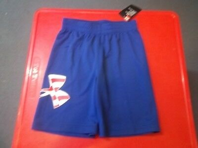 NWT Boy's Size 6 Navy With Red Patriotic Under Armour Shorts