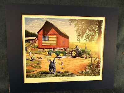 John Deere 4020 Tractor Print -The American Dream - Terry Downs - Matted