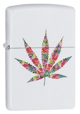 Zippo Windproof Floral Marijuana Leaf Lighter, Floral Weed, 29730, New In Box