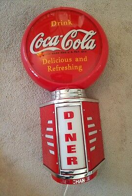"""Large Coca-Cola 30"""" tall Lighted Freestanding Sign– Repro of 1940 advertisement⊙"""