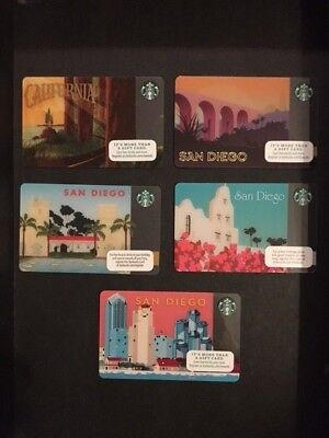 Assorted Starbucks Cards  San Diego California