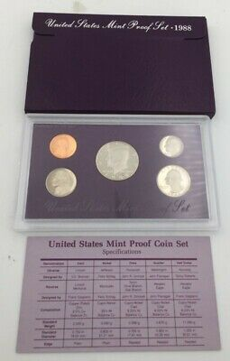 1988-S United States Mint Proof Coin Set With Case And Coa (Spg028132)