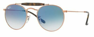 428abfe9db New Ray Ban Icons Round Double Bridge Bar Copper Blue Sunglasses Rb3747 9035  3F