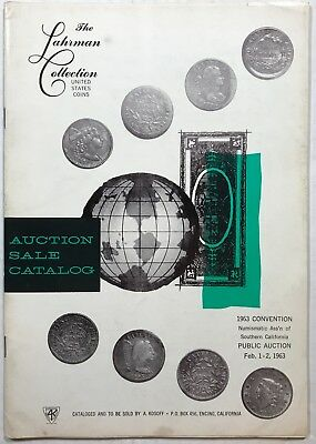 "Abe Kosoff 2/1963 auction catalog, ""The Lahrman Collection"" with plates"