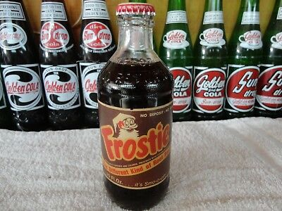 Frostie Root Beer 10 Oz Ndnr Stubby Bottle With Cap Paper Label