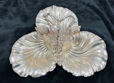 Thomas Russell Sons Silver English Figural Sea Trefoil Antique 1891 Sheffield
