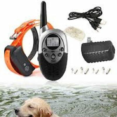 1000 Yards Rechargeable Waterproof Remote Pet Dog Training Collar Shock NEW