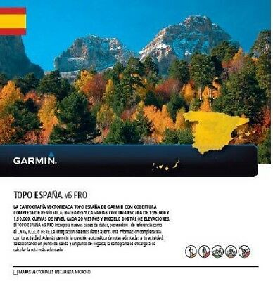 TOPO Spain v6 PRO -microSD/SD for selected Garmin GPS Devices 010-12036-01