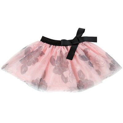 Girls Kids Skirt Layered Tutu Floral Printed Summer Dress Pink Size 4 6 8