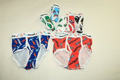 LOT OF 7 FRUIT OF THE LOOM Toddlers Boy's Days Of The Week Boxer Briefs - 4T/5T
