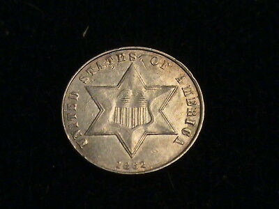 1862 Three Cent Silver, full bold date, tough series   N1761
